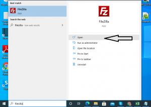Step 3 - Open Filezilla