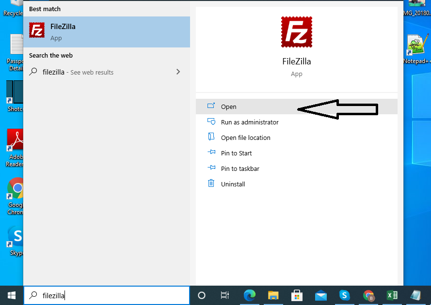 Step 3 - Open Filezilla